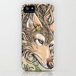 Dog of the Mountain - Honshu Wolf iPhone Case