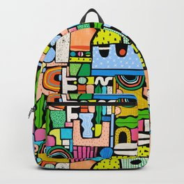 Color Block Collage Backpack