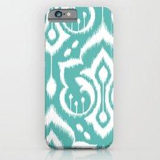 Ikat Damask Aqua iPhone 6 Slim Case