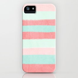 Painterly Stripes abstract trendy colors gender neutral seaside coral tropical minimal iPhone Case