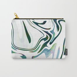 Greed Liquid Marbled Waves Design Carry-All Pouch