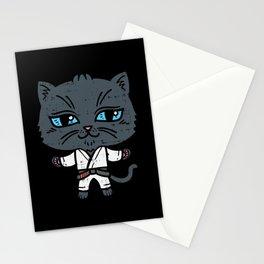 Kawaii Cat in BJJ Uniform Stationery Cards