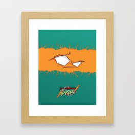 TMNT Michelangelo Framed Art Print