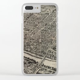 Vintage Pictorial Map of New Brunswick NJ (1910) Clear iPhone Case