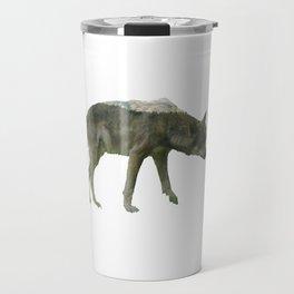 Shaggy wolf Travel Mug