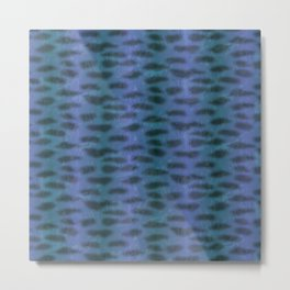 Tiger Shark Skin (Blue and Purple) Metal Print