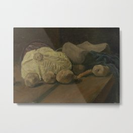 Still Life with Cabbage and Clogs Metal Print