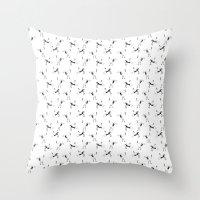 crane Throw Pillows featuring Crane by Jiaxi Huang