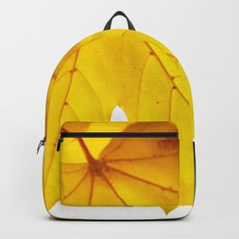 Yellow maple leaf. Backpack