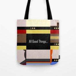 TNG - All Good Things - Minimalist Star Trek TNG The Next Generation 1701 D  startrek  Trektangles Tote Bag