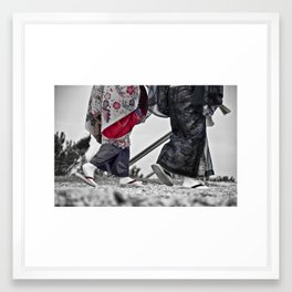 A step in the future is a good two feet forward.  Framed Art Print