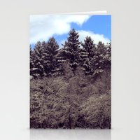 forrest Stationery Cards featuring Christmas forrest by Shitmonkey