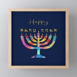 Hanukkah Menorah Framed Mini Art Print