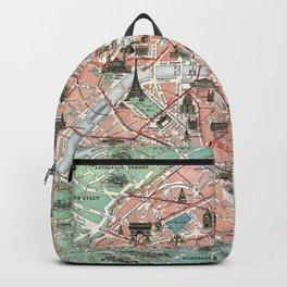 Vintage map of Paris Backpack