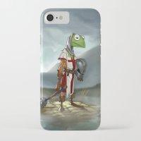 kermit iPhone & iPod Cases featuring Kermit the Knight by Alberto Camara