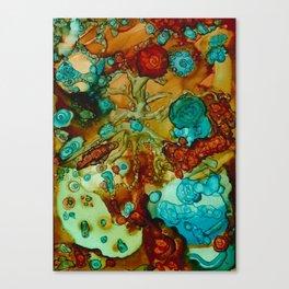 flora beginnings Abstract Canvas Print