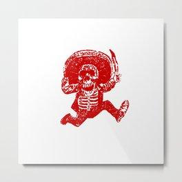 Pirate Skeleton Holding Dagger Metal Print