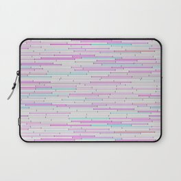 Light Pink Random Line Sections Laptop Sleeve