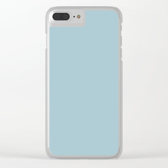 Tropical Waters Blue Clear iPhone Case
