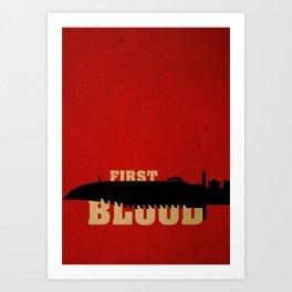 First Blood Art Print
