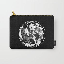 White and Black Yin Yang Koi Fish Carry-All Pouch