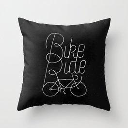 Bikeride Throw Pillow