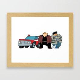 Cops Framed Art Print