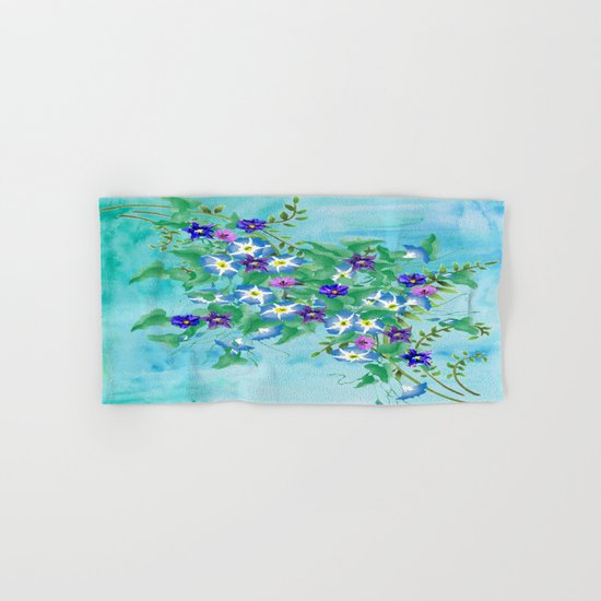 Watercolor Spring Bouquet  Hand & Bath Towel