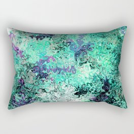 So Undecided, Abstract Art Swirls Pattern Rectangular Pillow