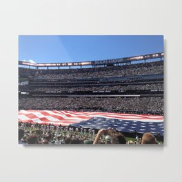 Jet's home opener - National Anthem Metal Print