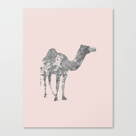 Camel wall art Canvas Print