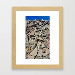 Concrete Bricks Framed Art Print