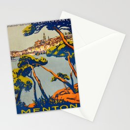 Vintage poster - Menton Stationery Cards