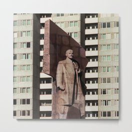 East berlin Lenin Statue Metal Print