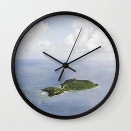 Tiny Island, Caribbean 2011 Wall Clock