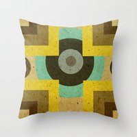 antique Throw Pillows featuring antique by simay