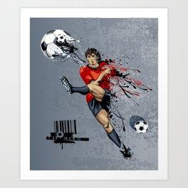 Football Player Art Print