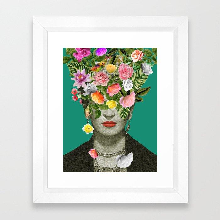 Frida Floral Framed Art Print