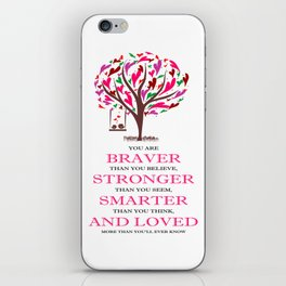 Winnie the Pooh Book Quote iPhone Skin