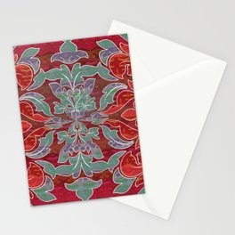 Boujee Boho Collection Deep Red Seal Stationery Cards