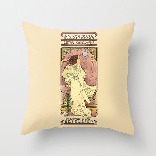 La Dauphine Aux Alderaan Throw Pillow