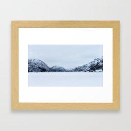 Blinded by the Norwegian snow Framed Art Print