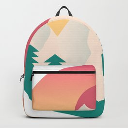 Nature artwork with gradient sunset Backpack