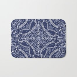 Doodles & Bits Lacy Blue Bandana Bath Mat