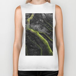 Mossy Bay Trees in Selective Black and White Biker Tank