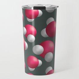Water molecules Travel Mug