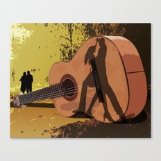 Memories Of A Guitar Canvas Print