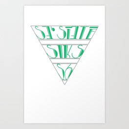 s6_tee_4 - I'm an S6 Phonetic Art Print