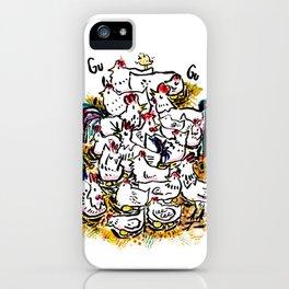 Chicken & peeps iPhone Case