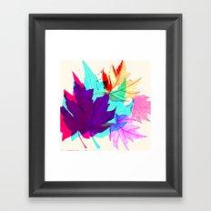 Maple Leaves Falling Framed Art Print